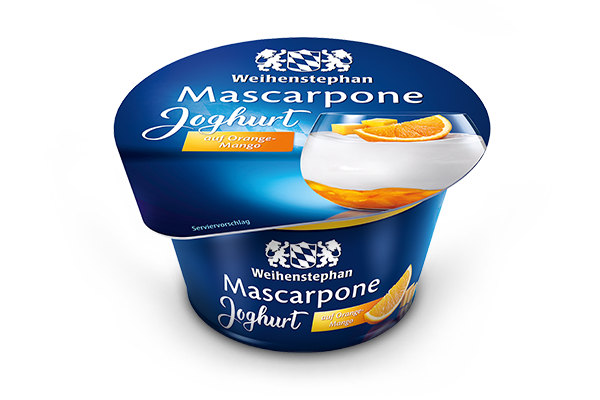 Mascarpone Joghurt auf Orange-Mango
