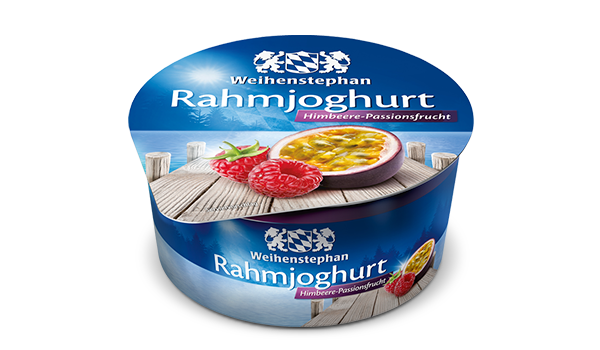 Rahmjoghurt Himbeere-Passionsfrucht